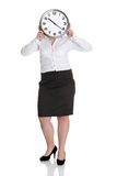 Businesswoman with clock Stock Photography