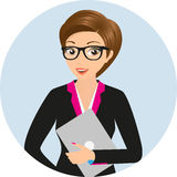 Businesswoman close-up Royalty Free Stock Images