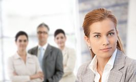 Businesswoman in closeup Stock Photo