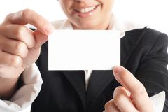 Businesswoman Closeup Royalty Free Stock Photos
