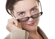 Businesswoman closeup stock photos
