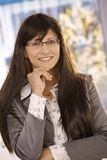 businesswoman closeup portrait smiling 库存图片