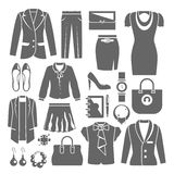 Businesswoman Clothes Set Stock Photography