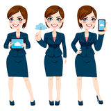 Businesswoman Cloud Computing Stock Image