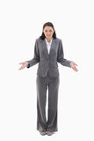 Businesswoman clueless Stock Photography