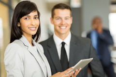Businesswoman with co-worker Royalty Free Stock Photos
