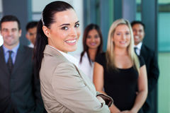 Businesswoman with co-workers Stock Photography