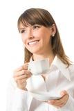 Businesswoman with coffee stock photo