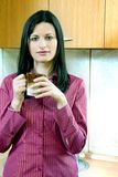 Businesswoman with coffee Stock Images