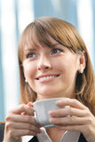 Businesswoman with coffee Royalty Free Stock Photography