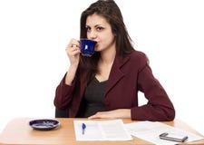 Businesswoman in coffee break Stock Photo
