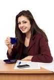 Businesswoman in coffee break Royalty Free Stock Image