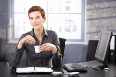Businesswoman on coffee break Royalty Free Stock Image