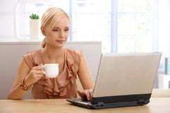 Businesswoman on coffee break Royalty Free Stock Photo