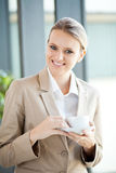 Businesswoman coffee break Stock Images