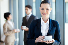 Businesswoman coffee break Royalty Free Stock Photos