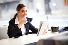 Businesswoman on a coffee break Royalty Free Stock Photography