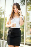 Businesswoman on coffee break Stock Images