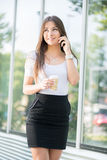 Businesswoman on coffee break Stock Photos