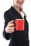 Businesswoman with coffee cup Stock Images
