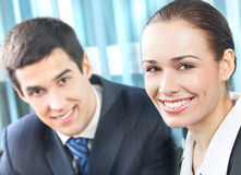 Businesswoman and colleague Royalty Free Stock Photo