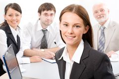 Businesswoman and colleagues Stock Photos