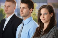 Businesswoman with colleagues Stock Photo