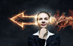 Businesswoman collecting her thoughts Stock Photography