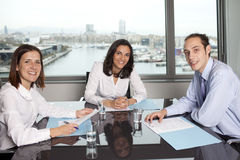 Businesswoman with collegues Stock Photo