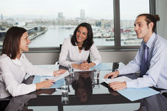 Businesswoman with collegues Royalty Free Stock Photography