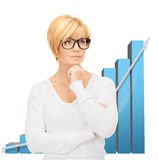 Businesswoman with colorful 3d graphics Royalty Free Stock Photo