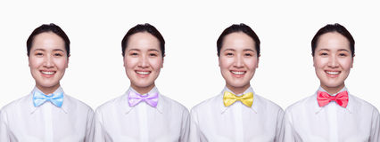 Businesswoman with colorful tie, Digital Composite Stock Images