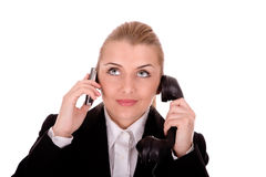 Businesswoman communication Royalty Free Stock Photos