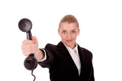 Businesswoman communication Royalty Free Stock Image