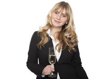 Businesswoman at a company party Royalty Free Stock Image