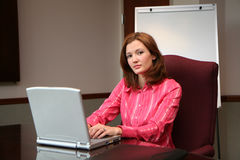 Businesswoman on Computer Royalty Free Stock Images