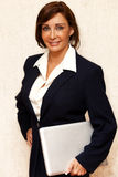 Businesswoman with Computer Stock Photo