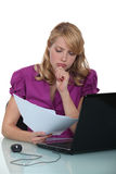 Businesswoman concentrating Stock Photography