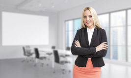 Businesswoman in conference room Stock Images