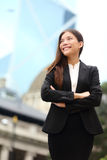 Businesswoman confident outdoor in Hong Kong Stock Photo