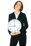 Businesswoman Confuse By Time Royalty Free Stock Photos