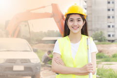 Businesswoman consrtuction Stock Photography