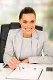 Businesswoman contract sign Royalty Free Stock Images
