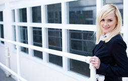 Businesswoman and corporate building Royalty Free Stock Photos