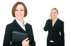 Businesswoman And Coworker Isolated Royalty Free Stock Photography