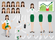 Businesswoman creation set build your character Royalty Free Stock Photos