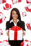 Businesswoman creative design Royalty Free Stock Photography