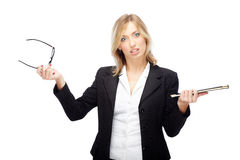 Businesswoman in crisis Stock Photos