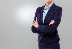 Businesswoman cross arm Royalty Free Stock Photography