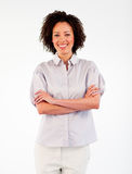 Businesswoman with crossed arms Royalty Free Stock Images